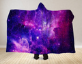 Purple Galaxy Hooded Blanket 80x60 / Muliticolored