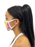 Rainbow Prism Face Mask With Filter Pocket