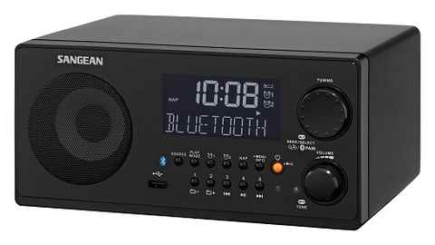 SANGEAN® FM-RBDS/AM/USB Bluetooth® Digital Tabletop Radio with Remote
