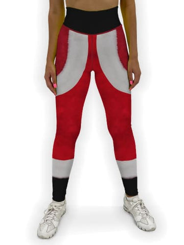 Santa Suit Christmas Jean Legging XS / Red