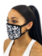 Skellington Face Mask With Filter Pocket S/M / Multicolored