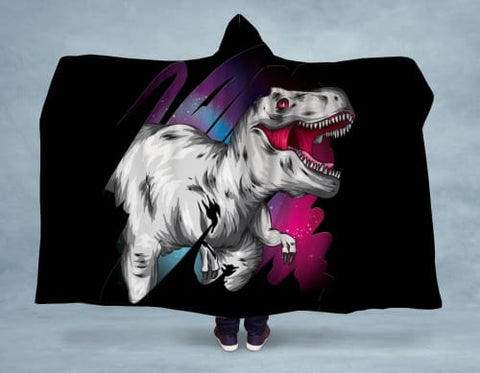Space Rex Hooded Blanket 80x60 / Multicolored