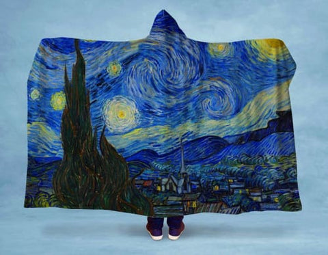 Image of Starry Night Hooded Blanket