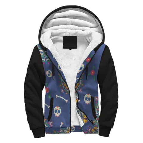 Image of Sugar Skeleton Queen AOP Sherpa Hoodie