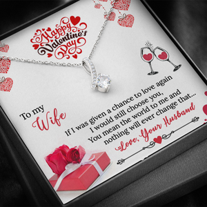 Alluring Beauty Valentine's Day Necklace Jewelry