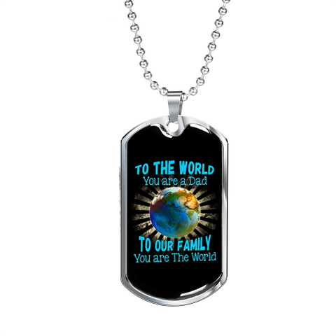 To The World Luxury Dog Tag