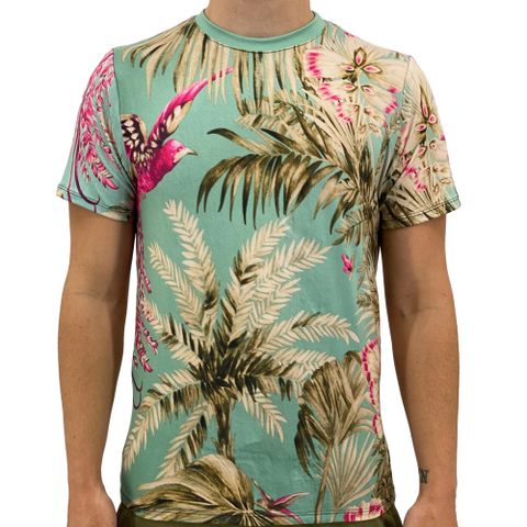 Image of Tropical Vacation Men's T-Shirt S / Green