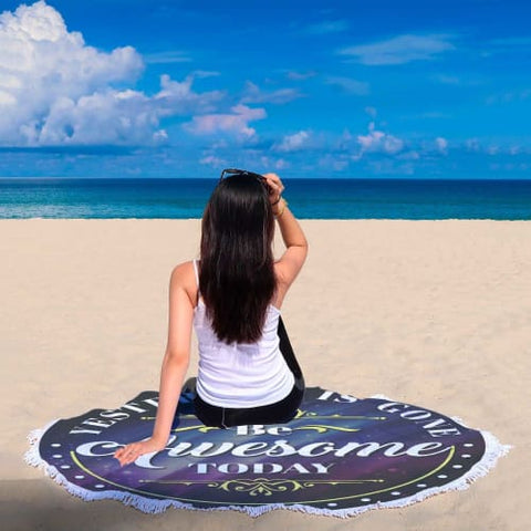 Yesterday is Gone - Round Beach Blanket