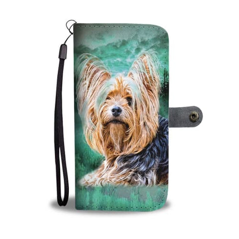 Image of Yorkie In the Jungle Print Wallet Case Wallet Case