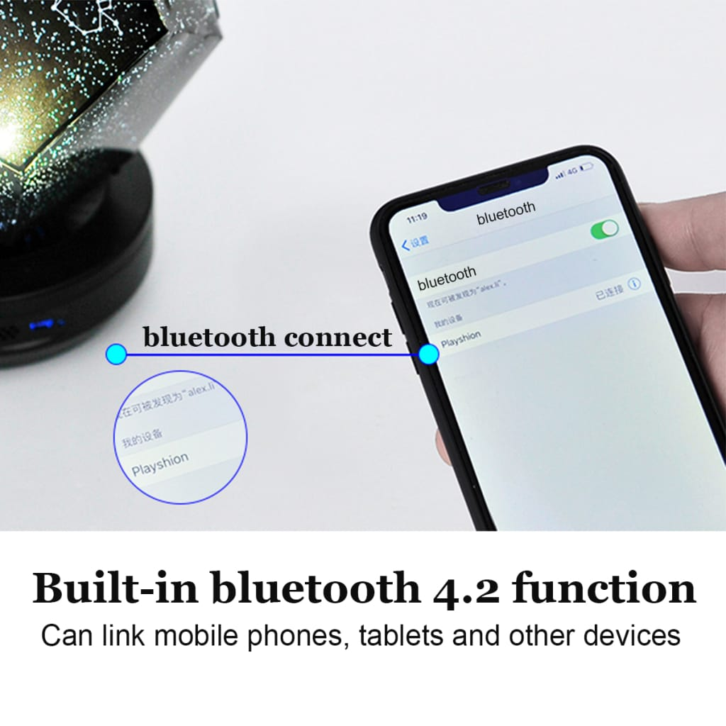 Music Bluetooth Remote Control Night Sky Light LED Lamp For Smart Home