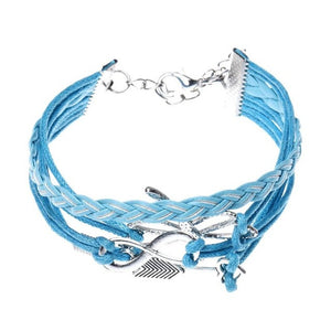 Arrow Handmade Leather Braid Fashion Bracelet