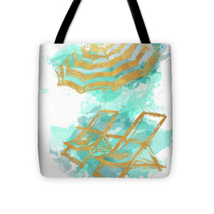 Gold Shore Poster Tote Bag