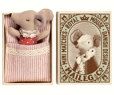 Sleepy-Wakey Baby Mouse in a Matchbox