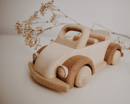 Wooden Beetle Convertible Car