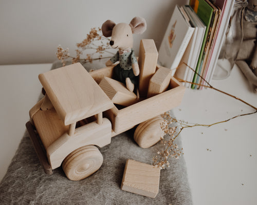 Wooden Truck With Building Blocks