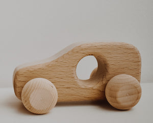 2 x Mini Wooden Cars