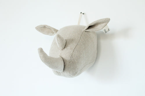 Rhino Wall Head in Natural Linen