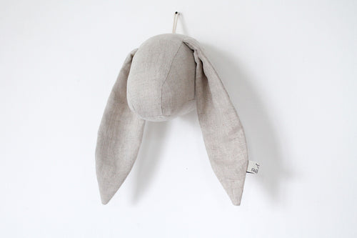 Bunny Wall Head in Natural Linen
