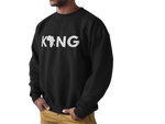 """Black King"" Crewneck Sweatshirt - Social Theory Apparel"