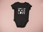 Classic Fit Soft Onesie For Children With Product of Black Love design
