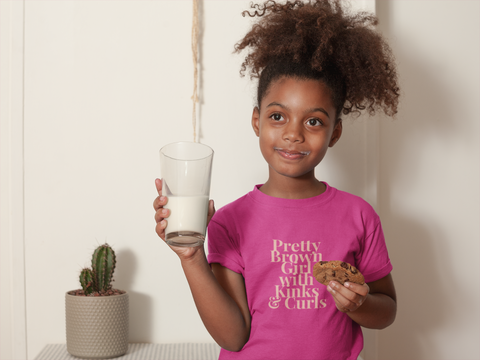 Classic Fit Berry Colored Pretty Brown Girl T-Shirt Online 2020