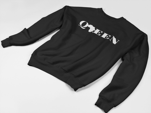 """Black Queen"" Crewneck Sweatshirt - Social Theory Apparel"