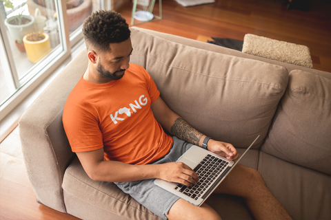 Classic Fit O_ Neck Unisex T-Shirt In Orange With Logo Online 2020