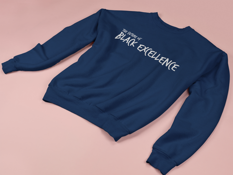 """The Future"" Classic Fit Navy Unisex Youth Crewneck Sweatshirt 2020"