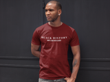 Classic Fit Maroon O_ Neck Unisex T-Shirt With Black History Design