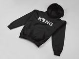 Classic Black Unisex King Hoodie with Drawstring Hood & Front Pocket