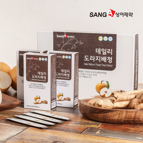 [상아제약] 데일리 도라지배정 10ml X 30포 | Daily Balloon Flower Pear Extract 300g (10g x 30 stick pouches)