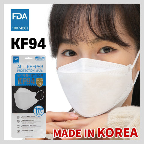 올키퍼 KF94 마스크 대형 화이트 10개 | All Keeper Protection KF94 Face Mask White Color 10ea