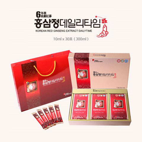 [상아제약] 홍삼정데일리타임  10ml x 30포 (300ml) | Korean Red Ginseng Extract Dailytime 300ml (10ml x 30 stick pouches)