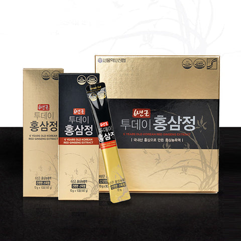 6년근 투데이 홍삼정 스틱 30포 | 6 Years Old Korean Red Ginseng Extract 300g (10g x 30 stick pouches)