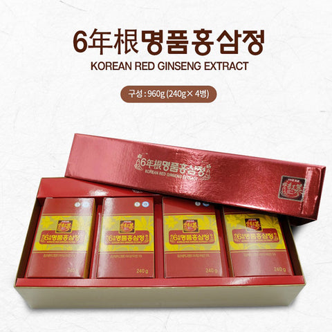 고려 6년근 명품홍삼정 240g x 4병 | Korean Red Ginseng Extract 240g x 4ea