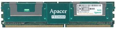 Apacer 2GB (78.ADG9H.401) PC2-5300 DDR2-667MHz ECC Fully Buffered CL5 240-Pin DIMM Dual Rank Memory Module - 78.ADG9H.401
