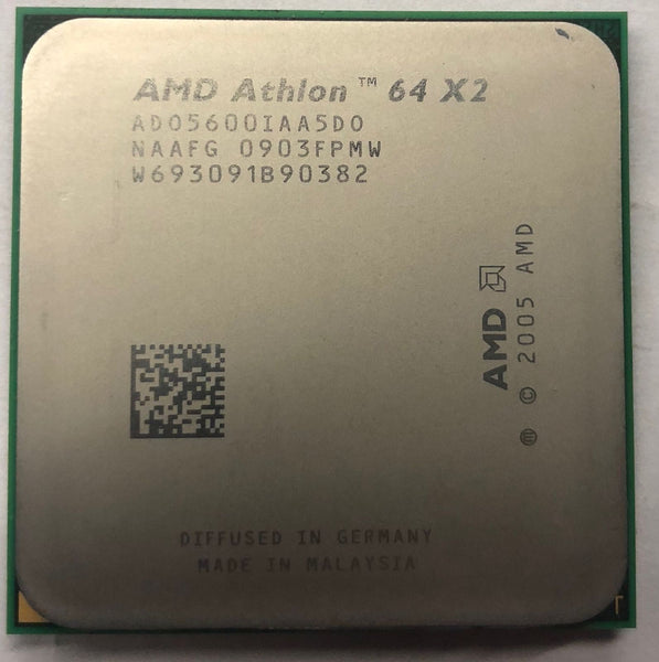 AMD Athlon 64 X2 5600+ 2.9GHz L2- 512k x 2 65w Socket AM2 Desktop Processor  - ADO5600IAA5DO