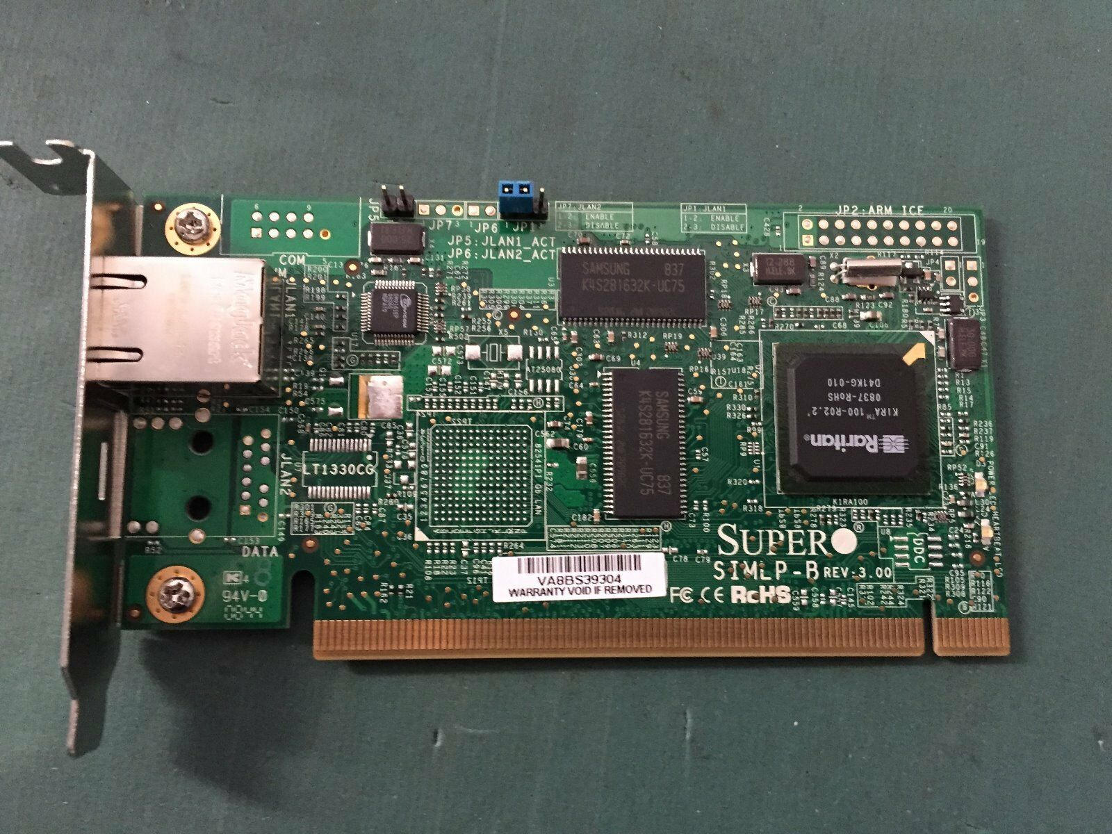 Supermicro AOC-SIMLP-B Remote Management SIMLP-B Ethernet Adapter.