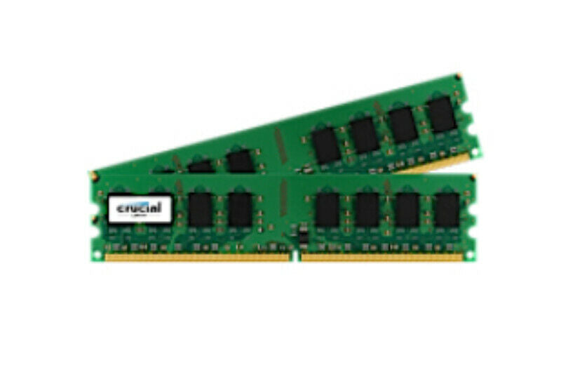Crucial 2GB KIT (1GB x 2Pcs Kit) DDR2  PC2-5300 667MHz CL5 Desktop Memory - CT2KIT12864AA667