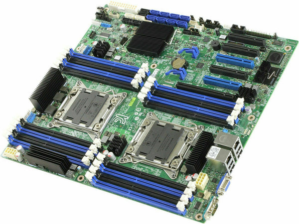 Intel S2400SC2 SSI CEB Socket LGA1356 2 Processors supported C602-A  2 x Gigabit LAN onboard graphics (PBA# G18552-403 / 404) Server Motherboard - DBS2400SC2