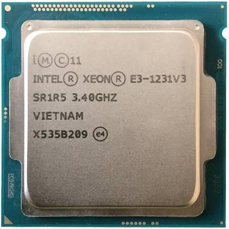 Intel Xeon E3-1231V3 Haswell 3.4 GHz 4 x 256KB L2 Cache 8MB L3 Cache Socket LGA 1150 80W (SR1R5) Server Processor.