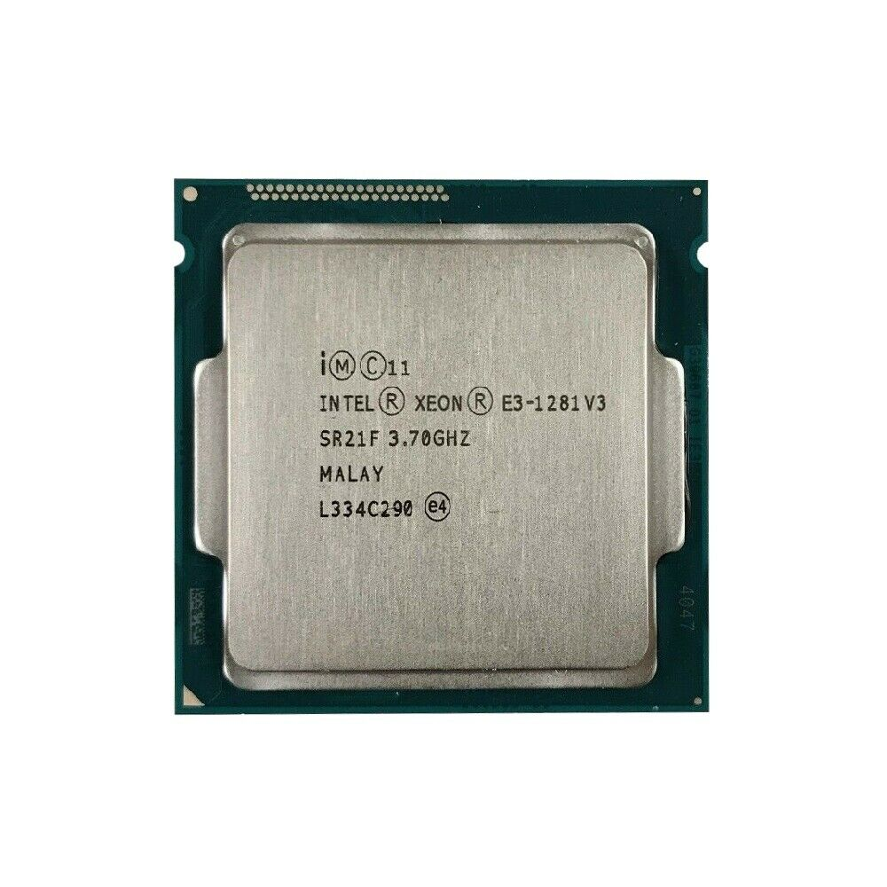 Intel Xeon E3-1281 v3 SR21F 3.70GHz 8MB 5GT/s Quad Core LGA1150 (SR21F / SR1R2) Server Processor