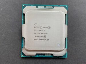 Intel Xeon E5-2643 v4 6-Core 3.40GHz 9.60GT/s QPI 20MB L3 Cache E5-2643v4 Socket FCLGA2011-3 (SR2P4) Server Processor