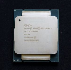 Intel Xeon E5-2670V3 12 Core 2.30Ghz 30MB Socket LGA2011-3 Smart Cache 9.60 GT/S QPI TDP 120W (SR1XS) Server Processor.