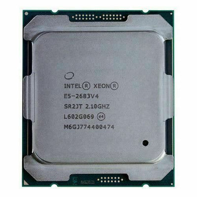 Intel Xeon E5-2683V4 16 Core 2.1Ghz 40MB Smart Cache 9.6 GT/S QPI TDP 120W (SR2JT) E5-2683 V4 Server Processor.