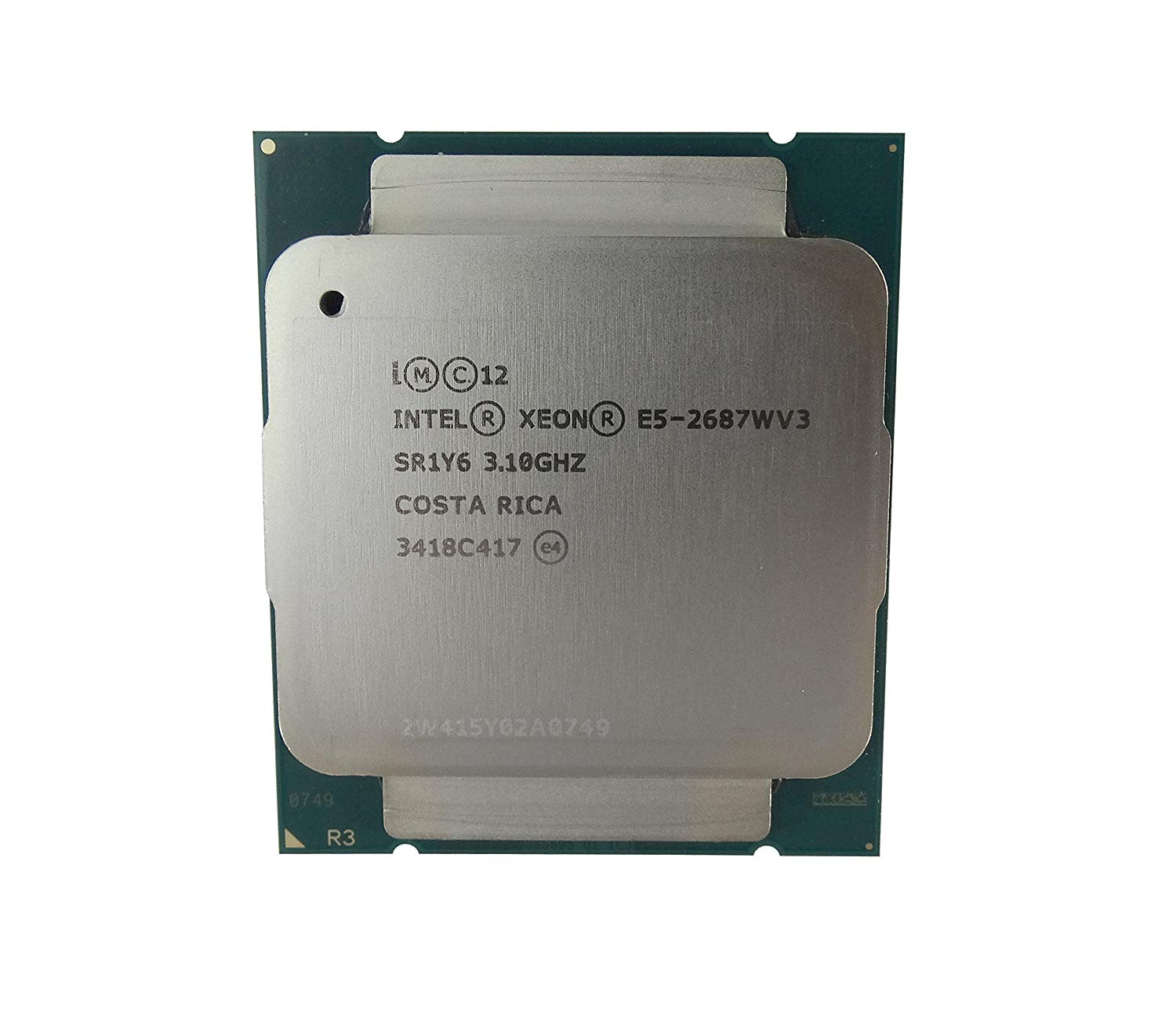 Intel Xeon E5-2687Wv3 Ten-Core Haswell 3.10GHz 9.6GT/s 25MB LGA 2011-v3 w/o Fan (SR1Y6) Server Processor