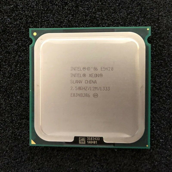 Intel Xeon E5420 2.50GHz 12MB Cache 1333MHz FSB Harpertown Quad-Core Socket 771 (SLBBL / SLANV) Server Processor