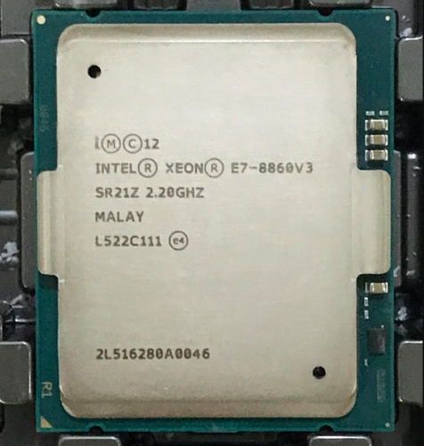 Intel Xeon E7-8860V3 16C, 2.2 GHZ, 40M Cache DDR4 up to 1866 MHZ Socket LGA1567 (SR21Z) Server Processor.