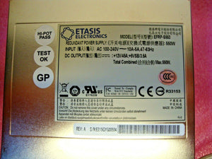 Etasis 550W (EFRP-S553) N 1 Redundant PC ATX Server Power Supply - EFRP-S553