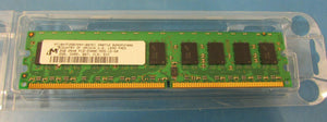Micron 2GB PC2-5300 DDR2-667MHz ECC Unbuffered CL5 240Pin Dual Rank Memory Module (CT25672AA667.M18FE) - MT18HTF25672AY-667E1